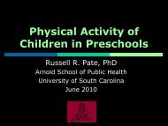 Physical Activity in Preschool Settings: Current Data and Associated ...