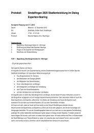 Protokoll Sindelfingen 2025 Stadtentwicklung im Dialog Experten ...