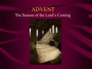 ADVENT - Archdiocese of St Andrews and Edinburgh