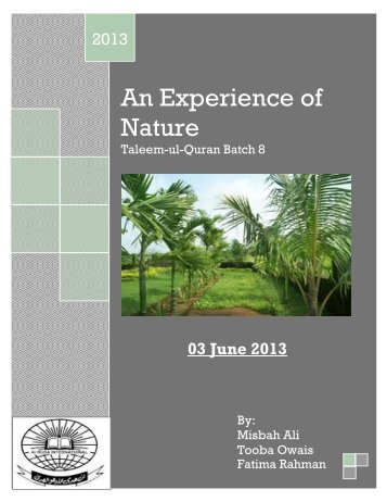 An Experience of Nature - Farhat Hashmi
