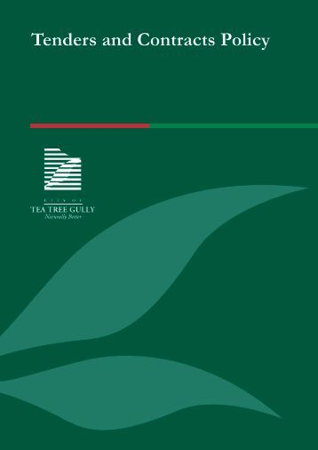 Tenders and Contracts Policy - City of Tea Tree Gully - SA.Gov.au