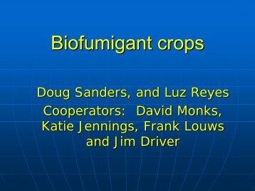 Biofumigant crops