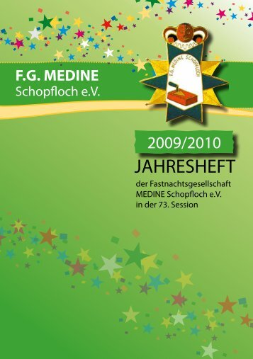 Jahresheft Session 2009/10 - 8,31 MB - FG Medine Schopfloch
