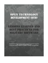 Lessons Learned & Best Practices for Military Software - Chief ...
