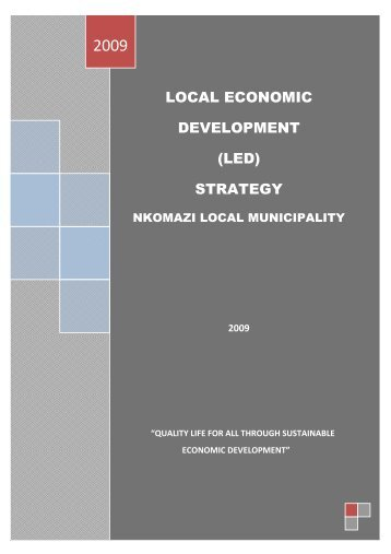 Nkomazi Local Municipality Strategy - Co-operative Governance ...