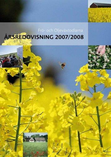 Ã…RSREDOVISNING 2007/2008 - Svensk Raps