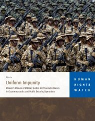 Uniform Impunity - Human Rights Watch