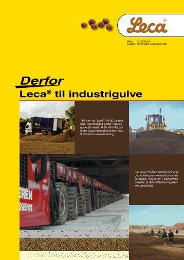 Derfor Leca® til industrigulve - Weber