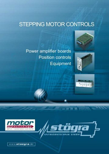 STEPPING MOTOR CONTROLS - Motor Technology Ltd