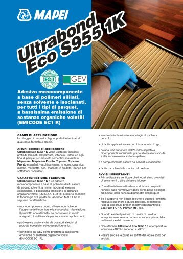 Ultrabond Eco S955 1K Ultrabond Eco S955 1K - Crocispa.it