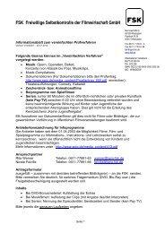 FSK-Prüfanträge vereinfachtes Verfahren - SPIO