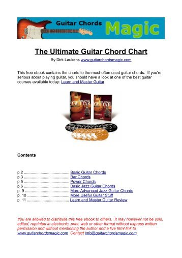 The Ultimate Guitar Chord Chart - Guitar Chords Magic