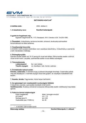Komfort bútorápoló - Kameleon98.hu