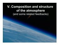 V. Composition and structure of the atmosphere - INSTAAR