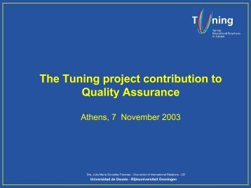Salamanca Convention - tuning project