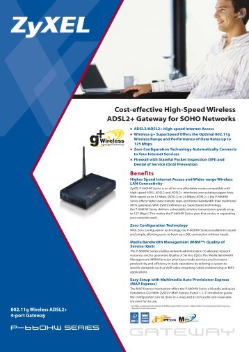 Cost-effective High-Speed Wireless ADSL2+ Gateway for SOHO - GTS