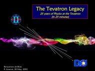 The Tevatron Legacy - rencontres de blois