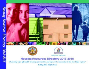 Housing Resources Directory 2013-2015 - County of San Diego