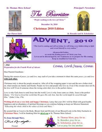 12-16-10 - St. Thomas More School
