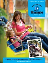 TraVel GUiDe for fUN iN THe TWiN ciTieS - Bloomington ...