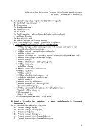 Załącznik nr 1 do Regulaminu organizacyjnego - Szpital ...