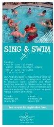 SING & SWIM - Renaissance ClubSport