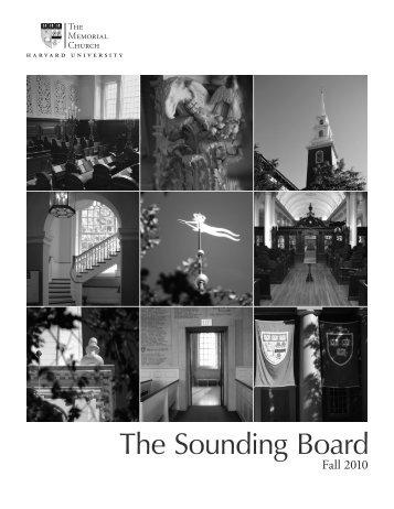 The Sounding Board - Memorial Church - Harvard University