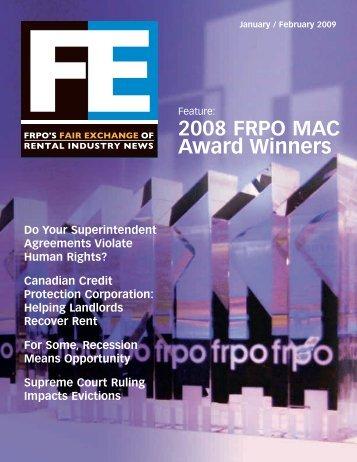 2008 FRPO MAC Award Winners