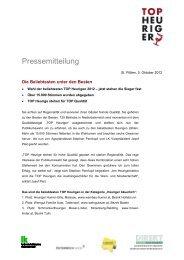 Pressemitteilung - TOP Heuriger