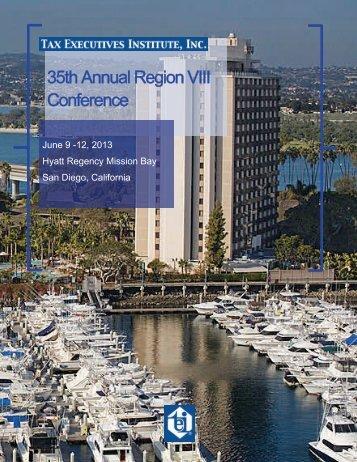 2013 TEI San Diego Regional Brochure - Tax Executives Institute, Inc.
