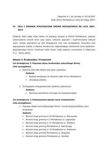 Załączniki nr 1 i 2 (.pdf) - Gmina Michałowice