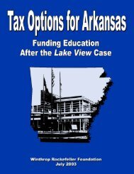 Tax Options for Arkansas - Winthrop Rockefeller Foundation