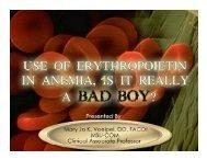 Anemia Isn't Myelodysplastic, Can We Use ESA's?