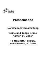 Pressemappe - Grüne Kanton St. Gallen