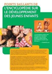 Points saillants de l'Encyclopédie sur le développement des jeunes ...
