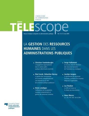 Vol. 12, no 2, mai - L'Observatoire de l'administration publique