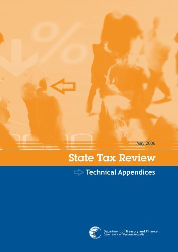 State Tax Review Technical Appendices - Department of Treasury ...