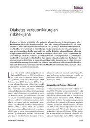 Diabetes verisuonikirurgian riskitekijänä - Terveyskirjasto