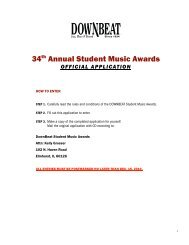 34 Annual Student Music Awards - Downbeat