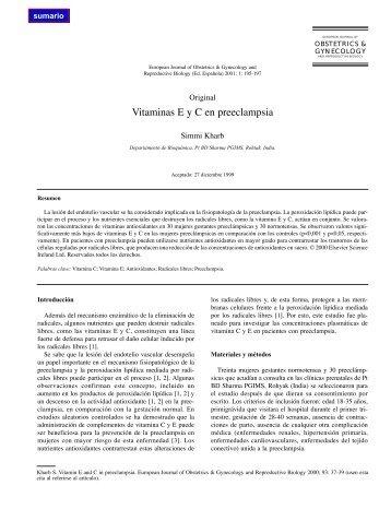 Vitaminas E y C en preeclampsia - El Médico Interactivo