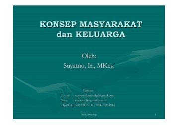 bab1-Masyarakat & Keluarga - Suyatno, Ir., MKes - Undip