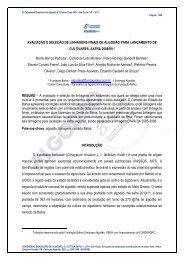 AVALIAÇÃO E SELEÇÃO DE LINHAGENS ... - Fundação Bahia