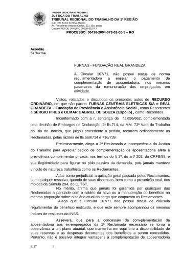 00436005820045010073#10-1 - Tribunal Regional do Trabalho da ...