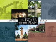 Key Strategic Plan results from 2006-11 - City of Irving, Texas
