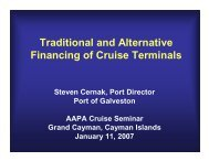 Traditional and Alternative Financing of Cruise Terminals