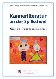 Kannerliteratur - Ministère de l'éducation nationale et de la formation ...
