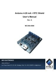 Arduino 4-20 mA + RTC Shield User's Manual - Olimex