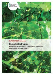 EuroSolarFuels - European Science Foundation