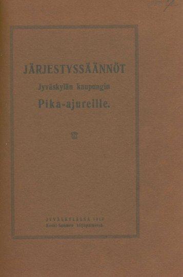 Järjestyssäännöt - Jyväskylän kaupunki