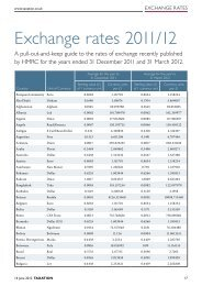 Exchange rates 2011/12 - Taxation